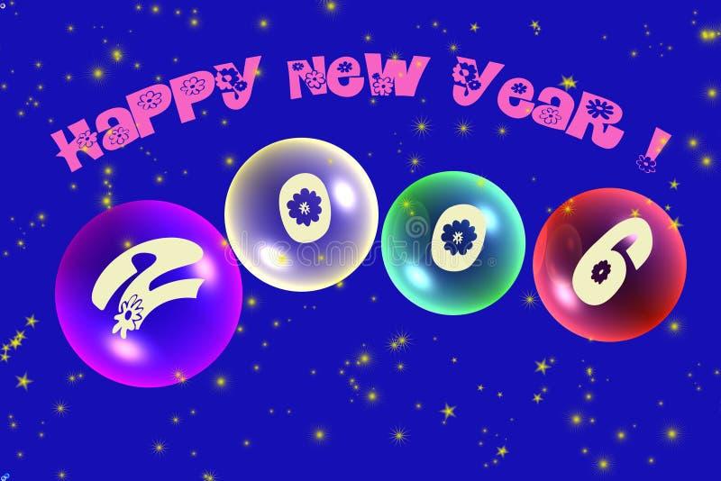 Nuovo anno felice 2006 illustrazione di stock
