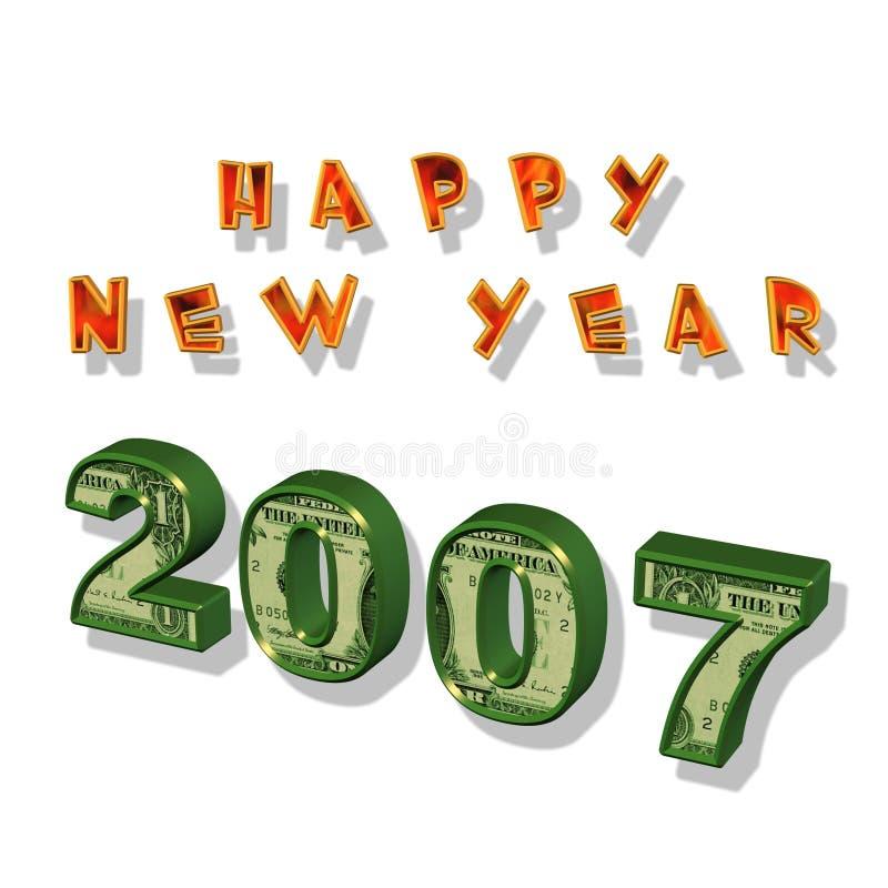 Nuovo anno felice 2007 royalty illustrazione gratis