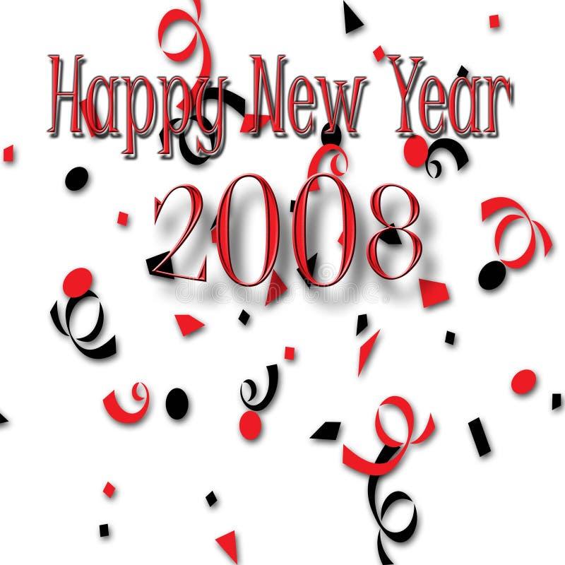 Nuovo anno felice 2008 fotografia stock