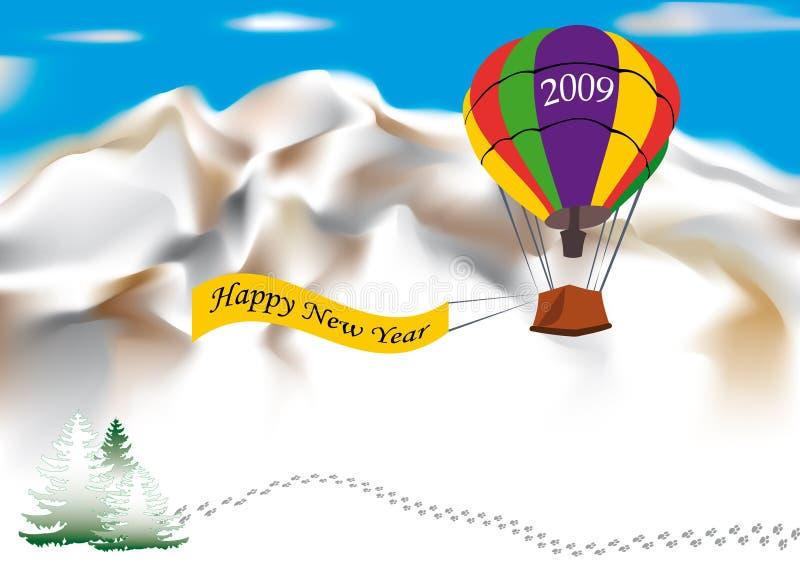 Nuovo anno felice 2009 illustrazione vettoriale