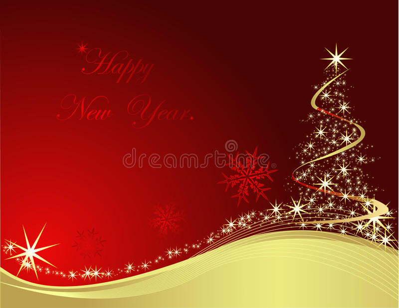 Nuovo anno felice 2010 royalty illustrazione gratis