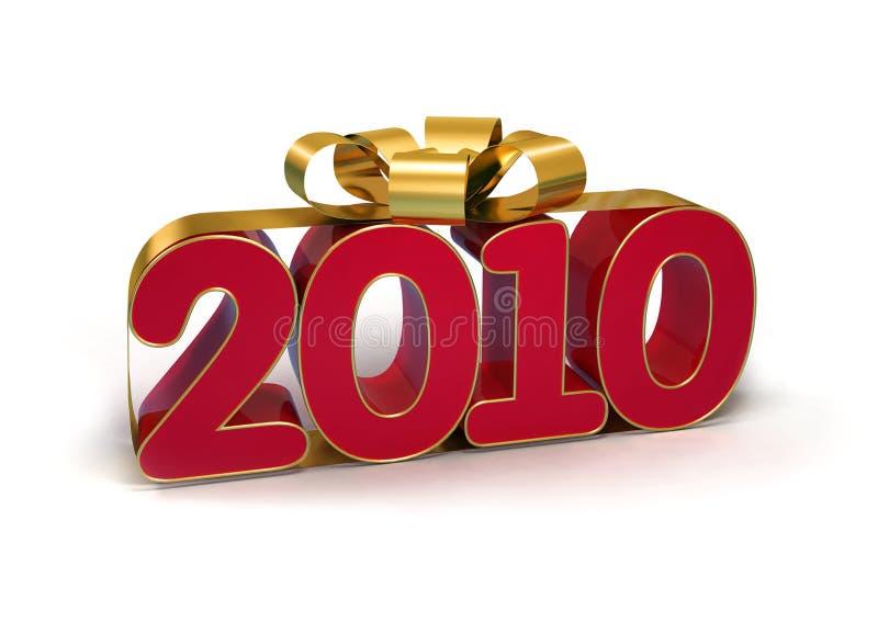 Nuovo anno felice 2010 fotografia stock libera da diritti