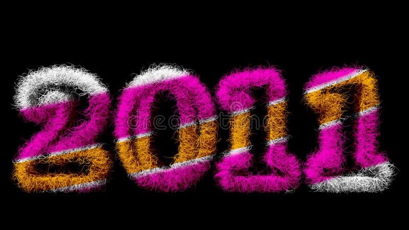 Nuovo anno felice 2011 fotografia stock