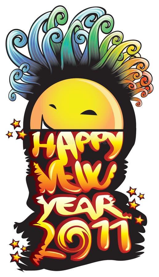Nuovo anno felice 2011 illustrazione vettoriale
