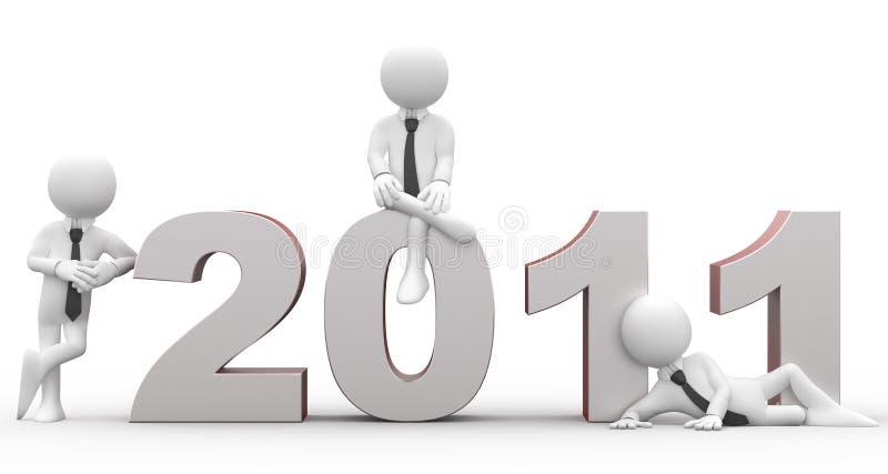 Nuovo anno felice 2011 illustrazione di stock