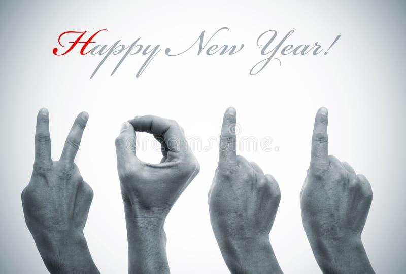 Nuovo anno felice 2011 immagine stock