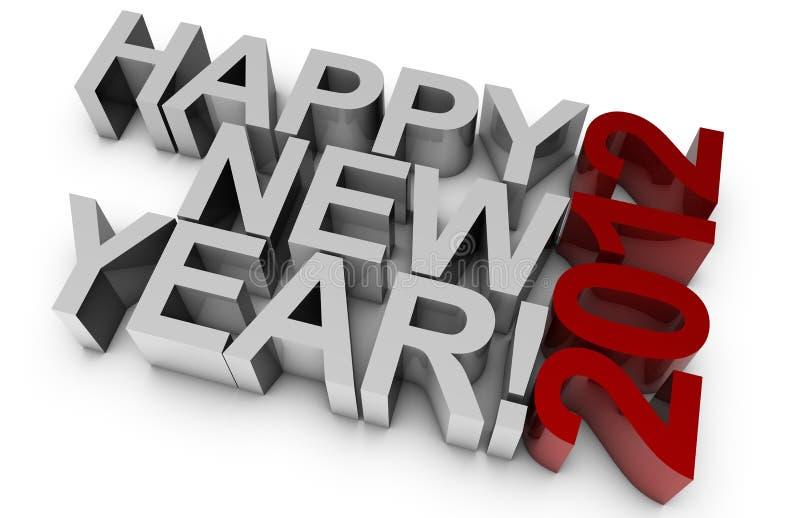 Nuovo anno felice! 2012 illustrazione vettoriale