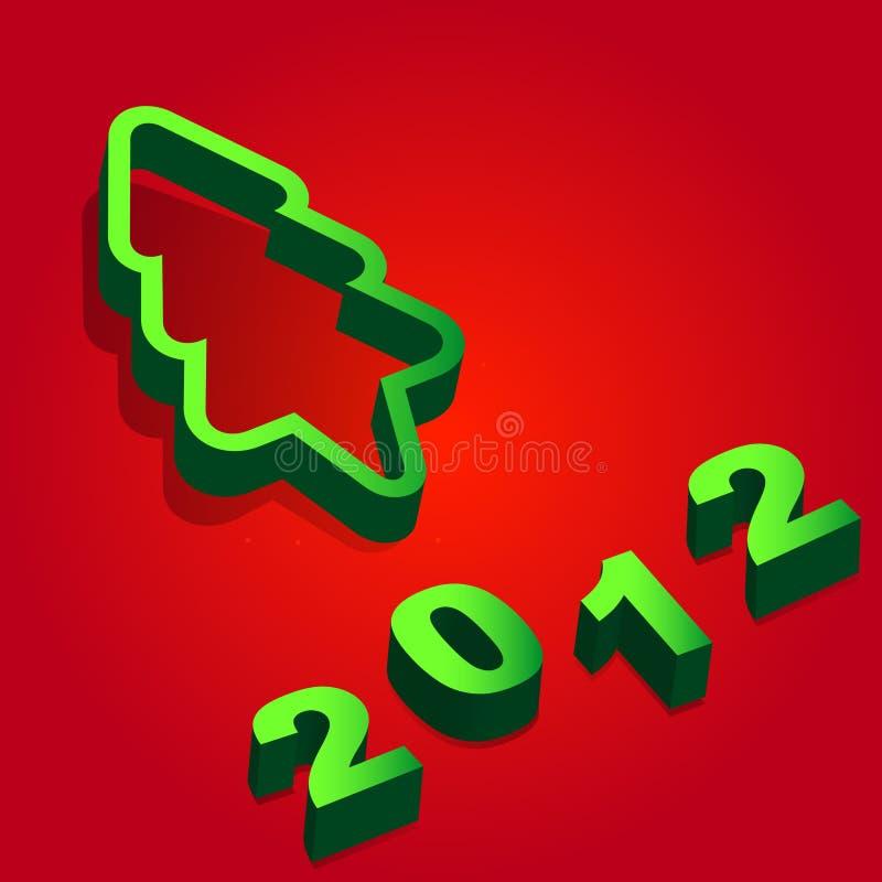 Nuovo anno felice 2012 royalty illustrazione gratis