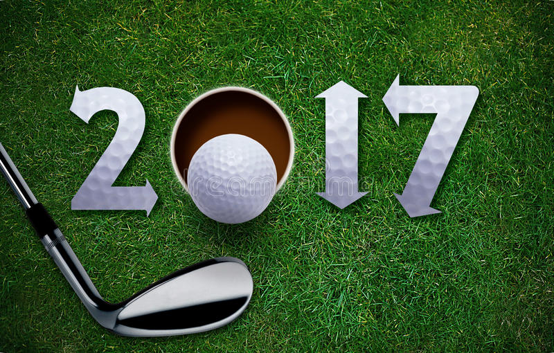 Nuovo anno felice di golf fotografie stock libere da diritti