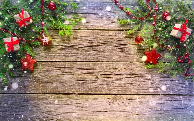Nuovo anno felice e Buon Natale Fondo fotografie stock libere da diritti
