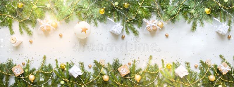 Nuovo anno felice e Buon Natale Fondo immagini stock