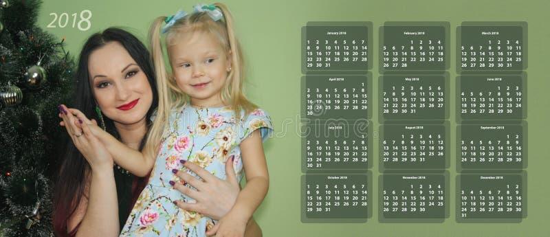 Nuovo anno il calendario 2018 immagine stock
