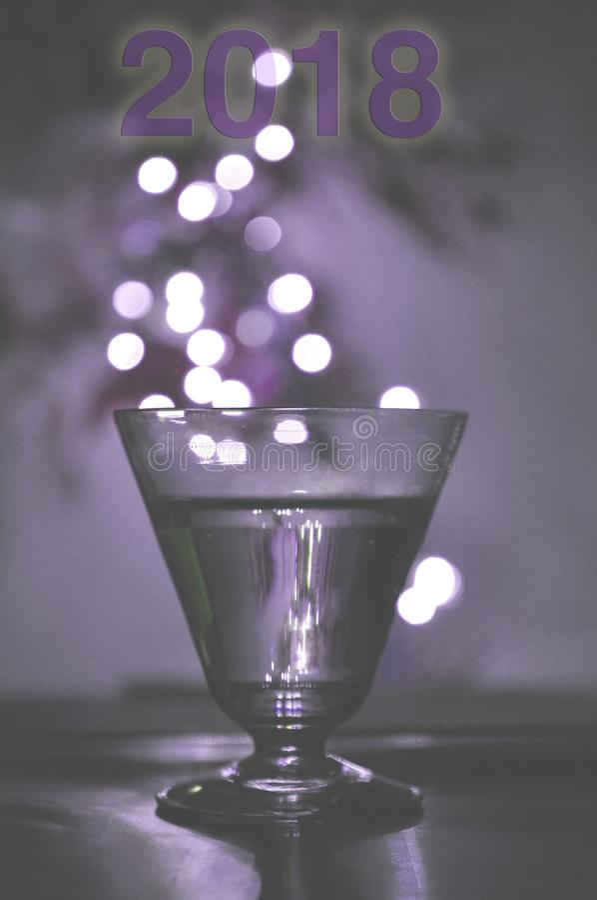 Nuovo anno leggero della bevanda illustrazione vettoriale