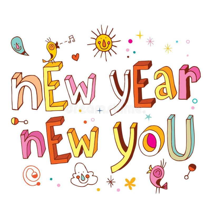 Nuovo anno nuovo voi illustrazione di stock