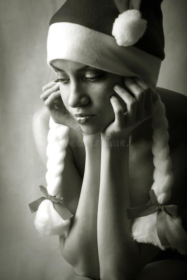 Nuovo anno. Ragazza. fotografia stock libera da diritti