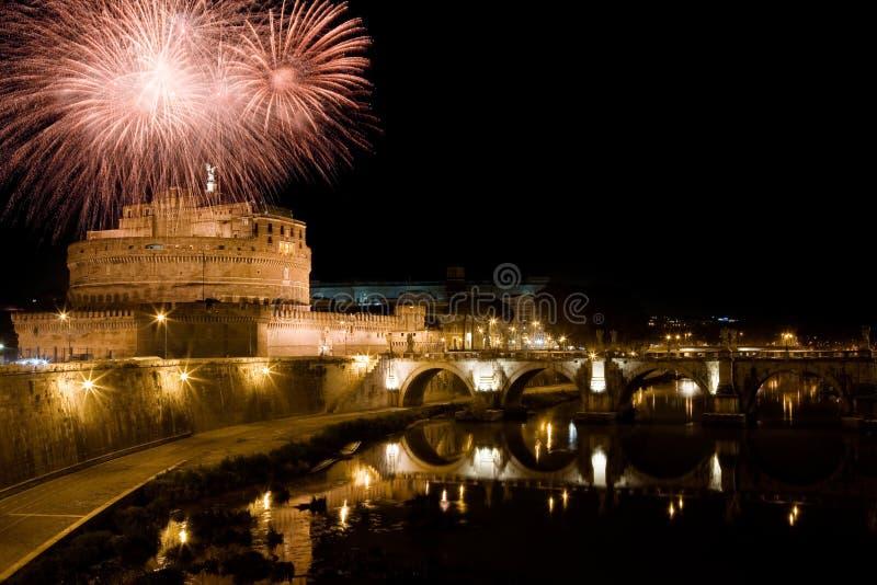 Nuovo anno a Roma immagine stock libera da diritti