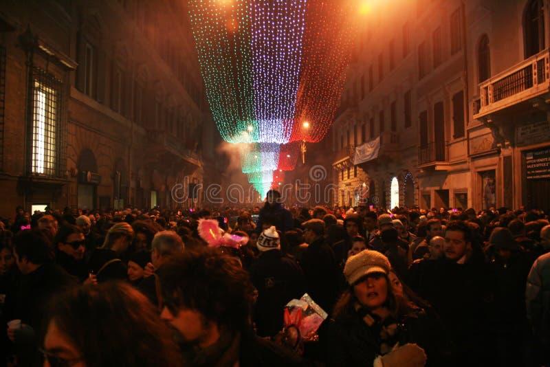 Nuovo anno a Roma fotografia stock