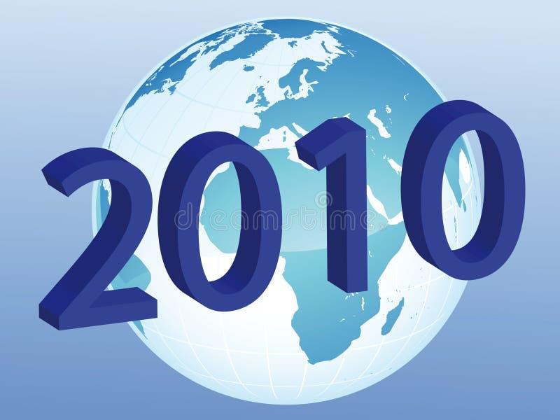 Nuovo anno sul mondo illustrazione vettoriale