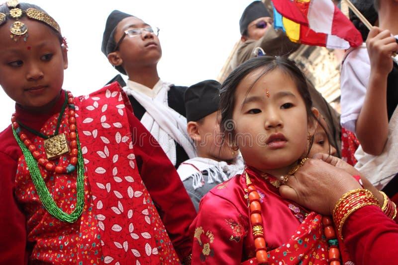 Nuovo anno tradizionale nel Nepal fotografia stock