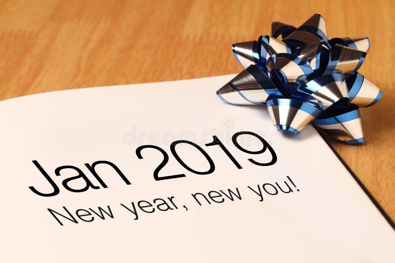 Nuovo anno nuovo voi con il deroration fotografie stock libere da diritti