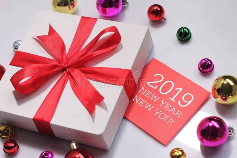 Nuovo anno nuovo voi con il deroration immagine stock libera da diritti