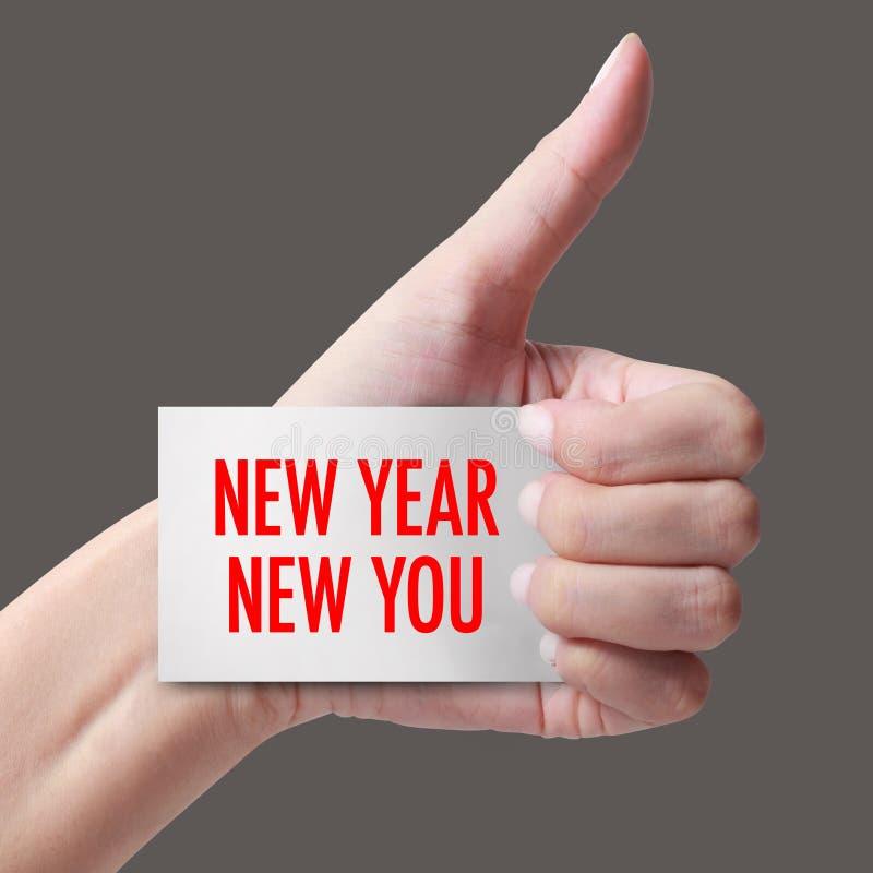 Nuovo anno nuovo voi con la mano immagini stock libere da diritti
