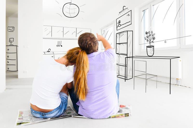 Nuovo appartamento fotografie stock libere da diritti