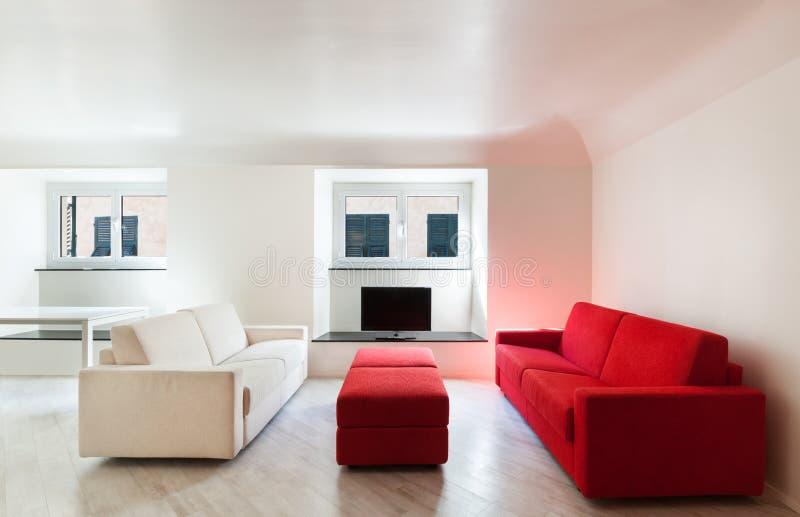Nuovo appartamento interno immagine stock libera da diritti