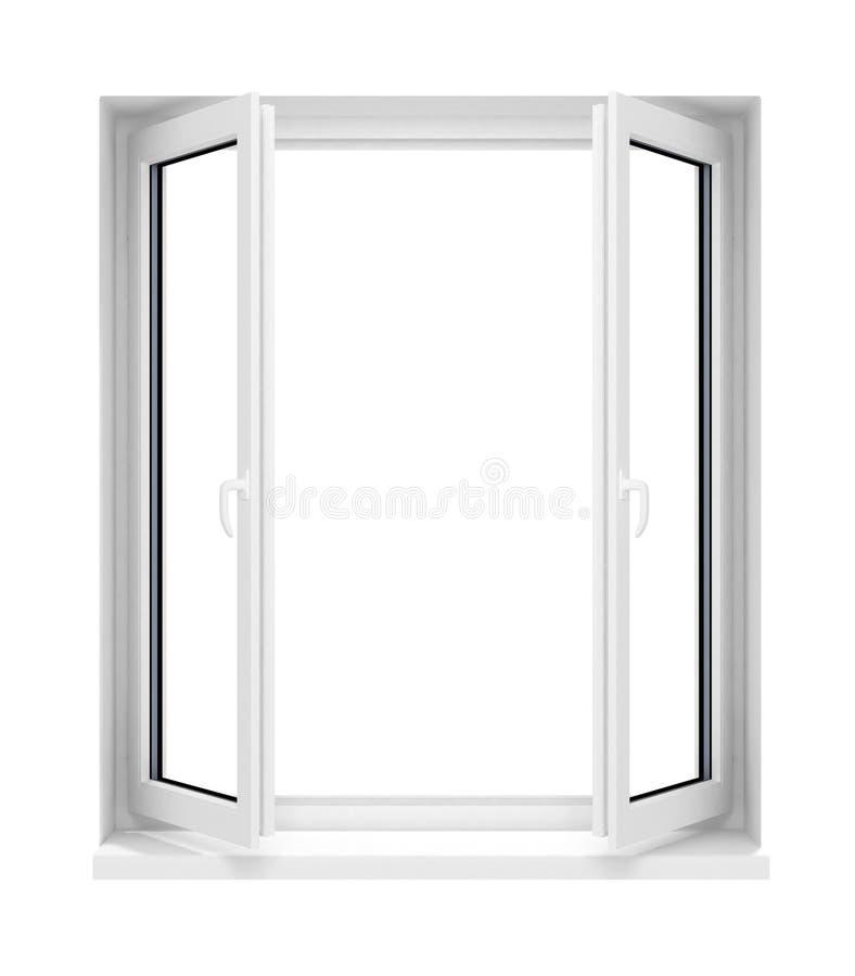 Nuovo blocco per grafici di finestra di vetro di plastica aperto isolato royalty illustrazione gratis