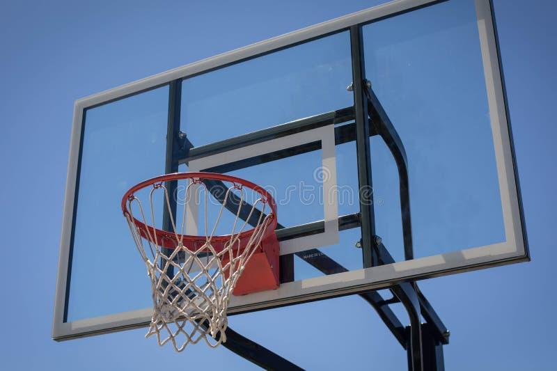 Nuovo cerchio di pallacanestro fotografia stock libera da diritti