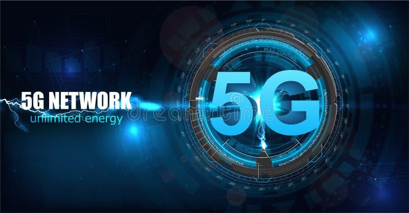 nuovo collegamento senza fili di wifi di Internet 5G illustrazione vettoriale
