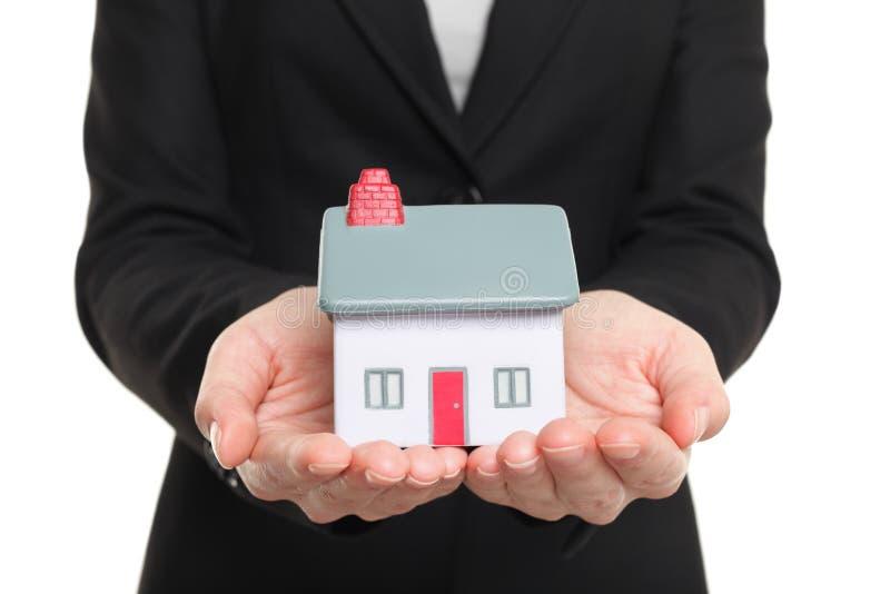 Nuovo concetto del padrone di casa e della casa immagini stock