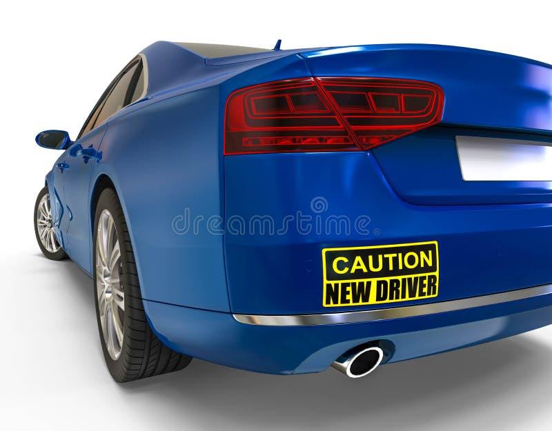 Nuovo concetto dell'adesivo per paraurti del driver illustrazione di stock