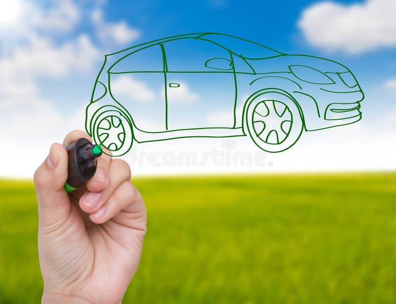 Nuovo concetto dell'automobile immagine stock