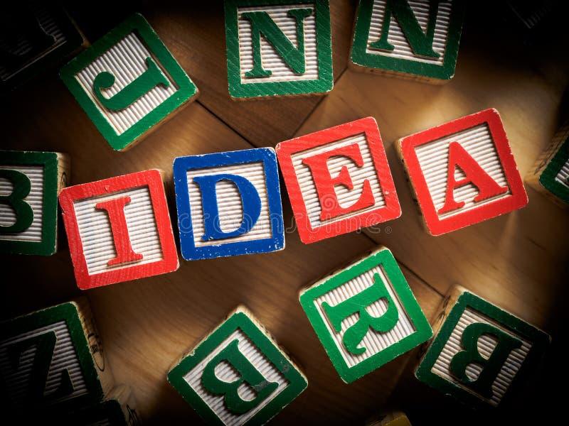 Nuovo concetto di idea fotografie stock libere da diritti