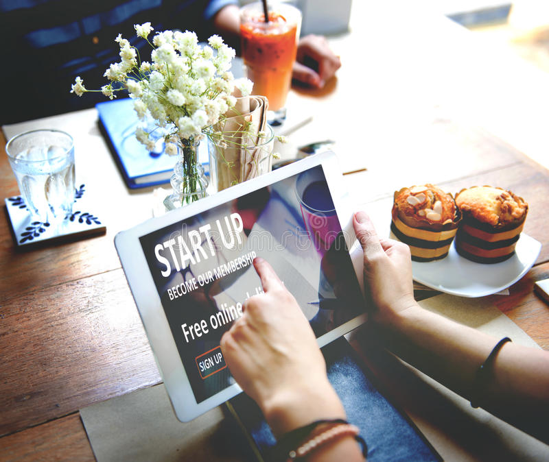 Nuovo concetto Startup del lancio di strategia di visione di affari fotografie stock