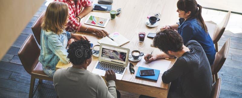 Nuovo concetto Startup di successo di crescita del lancio di affari immagini stock