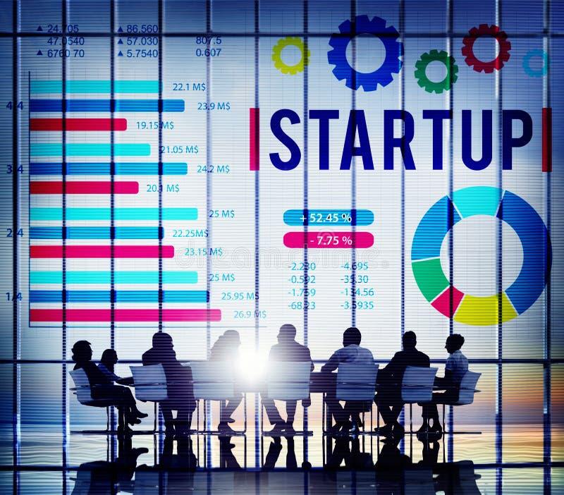 Nuovo concetto Startup di sviluppo di successo di crescita di affari fotografia stock