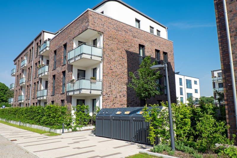 Nuovo condominio a Amburgo fotografia stock