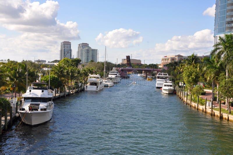 Nuovo fiume del Fort Lauderdale immagini stock libere da diritti
