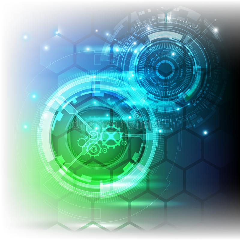 Nuovo fondo futuro dell'estratto di concetto di tecnologia per la soluzione di affari illustrazione di stock