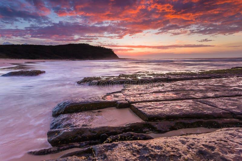 Nuovo Galles del Sud grazioso Australia della spiaggia immagini stock libere da diritti