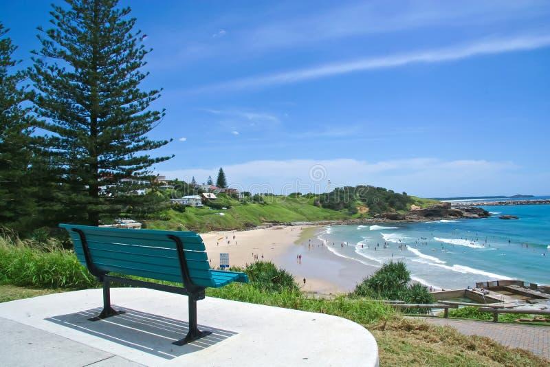 Nuovo Galles del Sud nordico Australia della spiaggia di Yamba fotografie stock libere da diritti