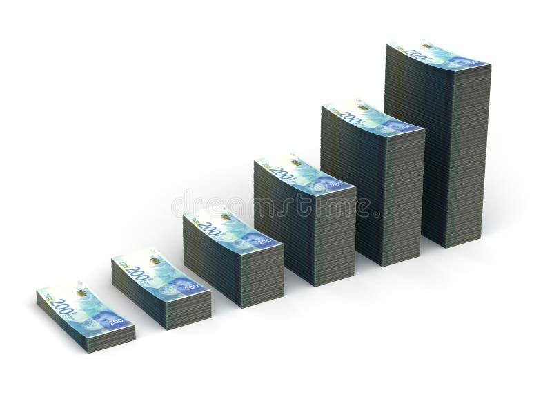 Nuovo grafico israeliano dello shekel illustrazione di stock