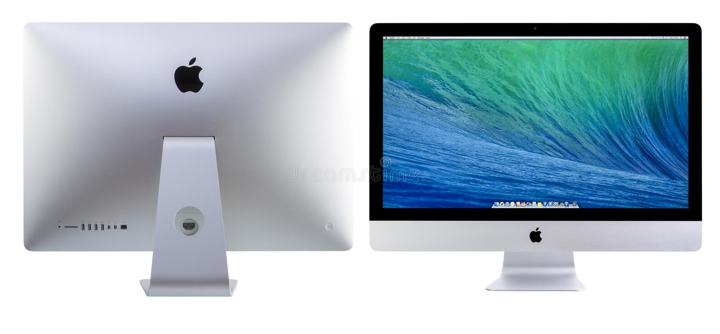 Nuovo iMac 27 con i dissidenti di OS X fotografie stock