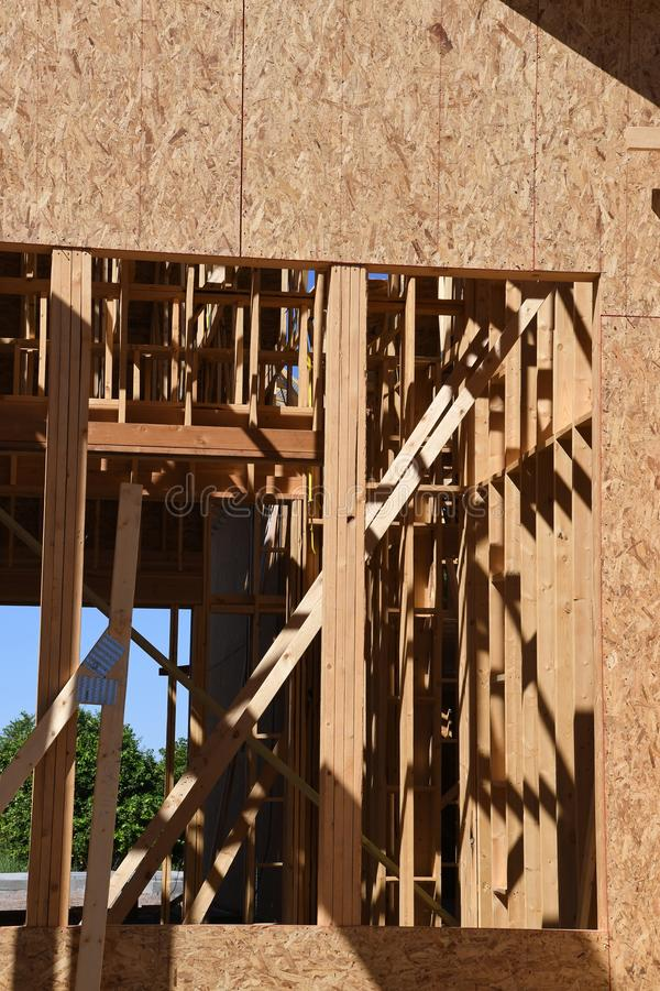 Nuovo inquadramento domestico della costruzione immagine stock libera da diritti