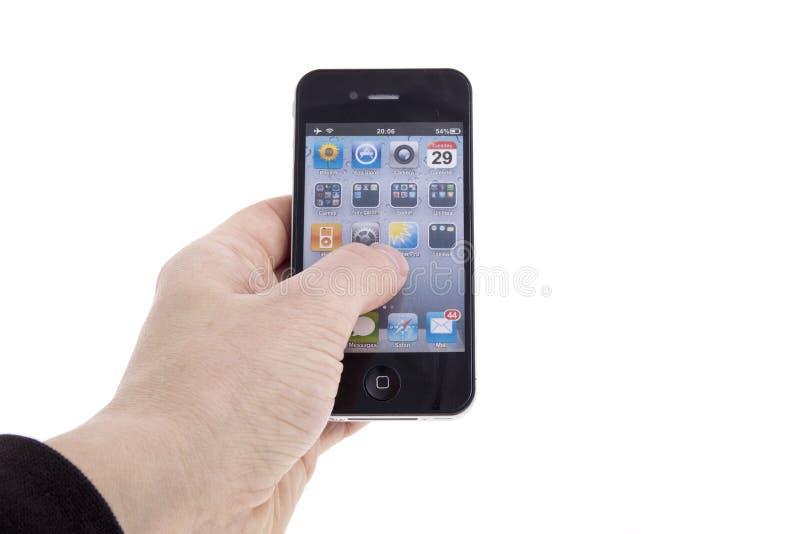 Nuovo iPhone 4 del Apple fotografia stock libera da diritti