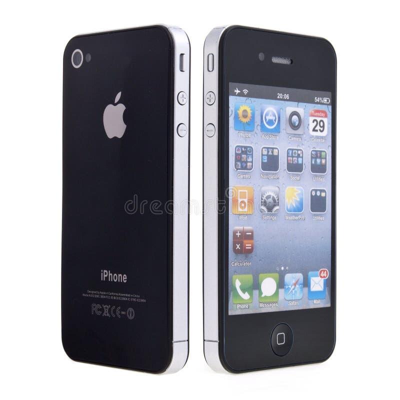 Nuovo iPhone 4 del Apple immagine stock libera da diritti