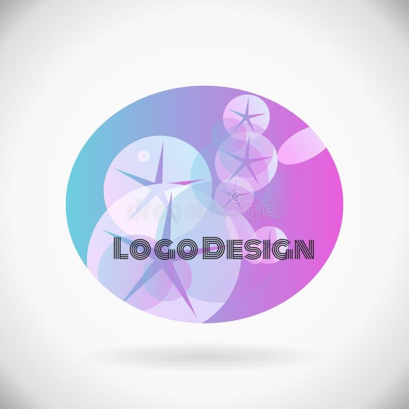 Nuovo logo della STAZIONE TERMALE di vettore dell'elemento astratto di progettazione illustrazione di stock