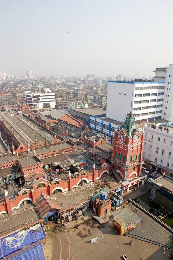Nuovo mercato, Calcutta, India immagini stock